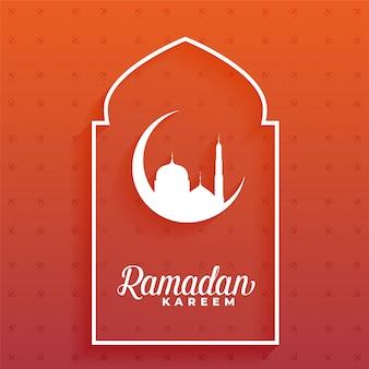 Eleganter ramadan kareem mond und moscheeentwurf