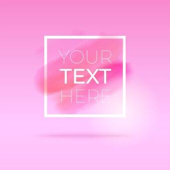 Eleganter rosa hintergrund mit dünnem weißem rahmen und kopierraum. .
