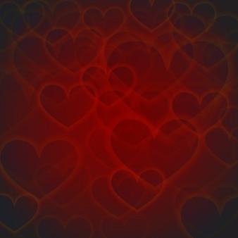 Eleganter roter valentine background mit lichteffekt