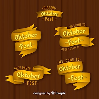 Eleganter satz oktoberfest-bänder