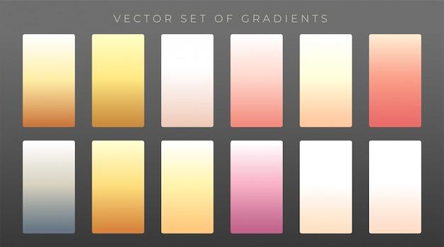 Eleganter satz von premium-gradienten