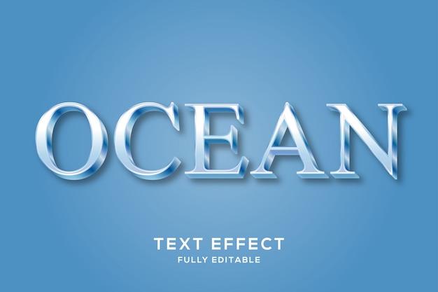Eleganter, sauberer, blauer textstil-effekt
