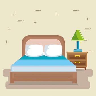 Eleganter schlafzimmerszene klassiker