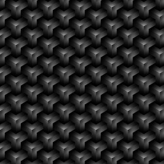Eleganter schwarzer hintergrund aus einem nahtlos bearbeitbaren geometrischen muster