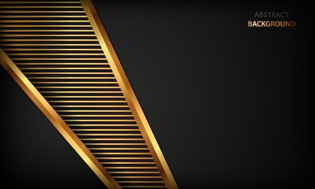 Eleganter schwarzer luxushintergrund. textur mit realistischen goldenen effektelement.