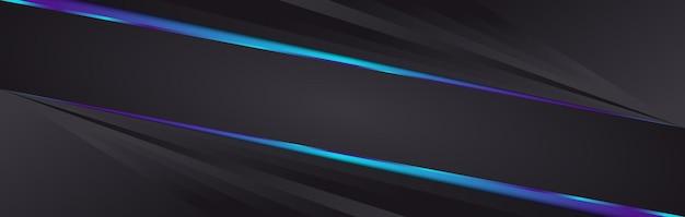 Eleganter schwarzer und blauer geometrischer hintergrund. abstrakter vektorhintergrund für banner- oder posterdesign
