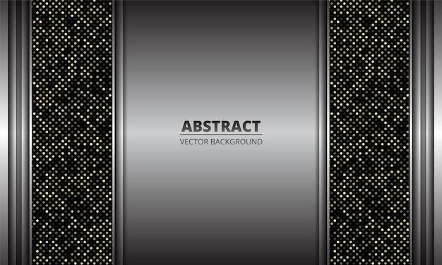 Eleganter silberner eisenhintergrund eine kombination mit punkten glitzert dekoration.