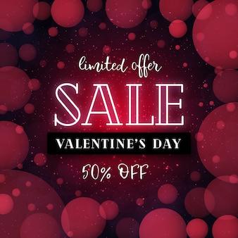 Eleganter valentine sale red love-hintergrund