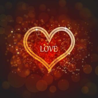 Eleganter valentinsgruß-hintergrund mit lichteffekt