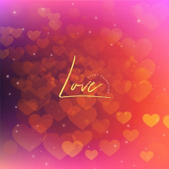Eleganter valentinsgruß-steigungs-hintergrund mit lichteffekt