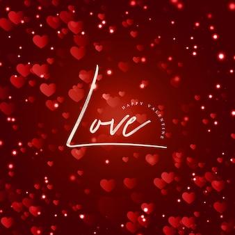 Eleganter vektor valentine background mit lichteffekt