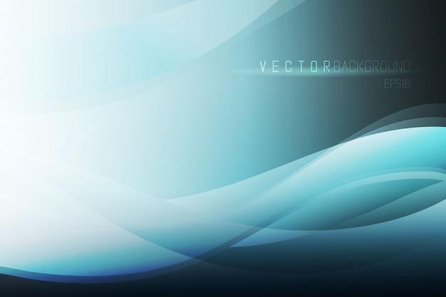 Eleganter vektorzusammenfassungshintergrund blauer abstrakter wellenhintergrund.