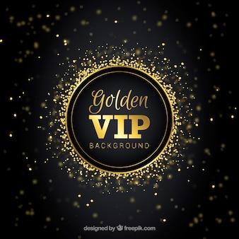 Eleganter vip-hintergrund mit goldenem bokeh-effekt