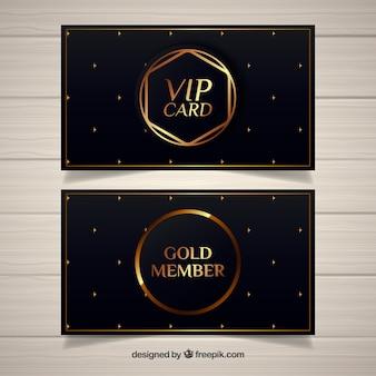 Eleganter vip-pass mit goldenem design