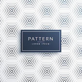 Eleganter Waben- oder sechseckiger Musterhintergrund