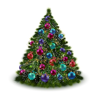 Eleganter weihnachtsbaum hintergrund