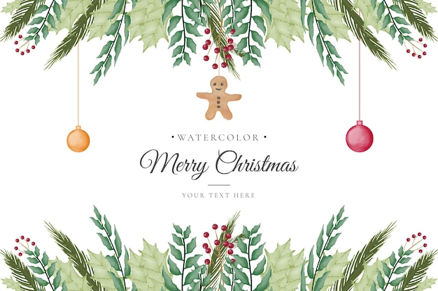 Eleganter weihnachtshintergrund mit aquarell