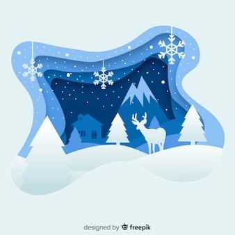 Eleganter weihnachtshintergrund mit papierart
