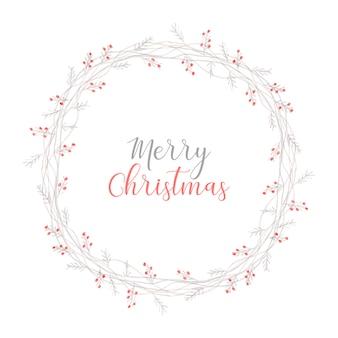 Eleganter weihnachtskranz