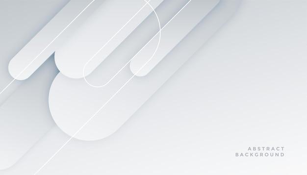 Eleganter weißer hintergrund mit sauberen formen