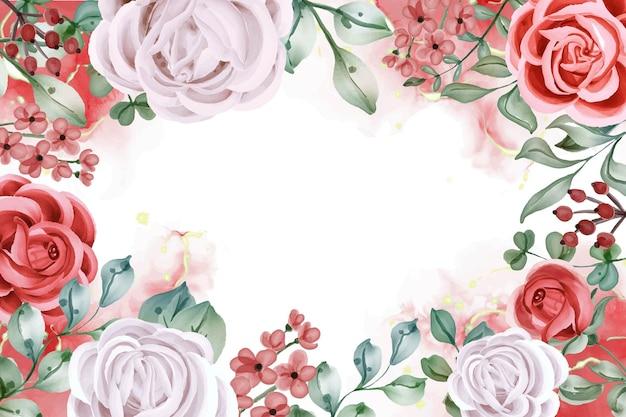 Eleganter weißer rosen-blumenarrangement-hintergrund