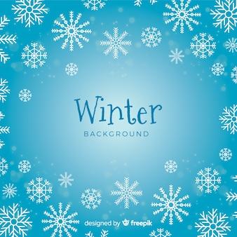 Eleganter winterhintergrund mit schneeflocken