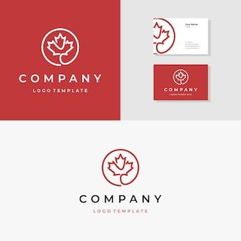 Elegantes ahornblatt logo design