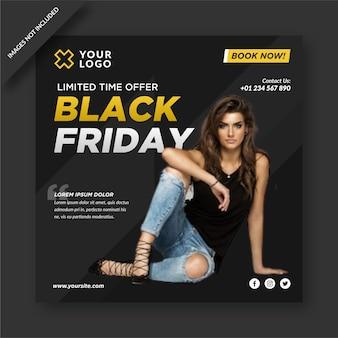 Elegantes black friday instagram und social media post