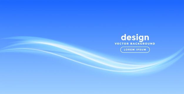 Elegantes blaues wellenhintergrunddesign