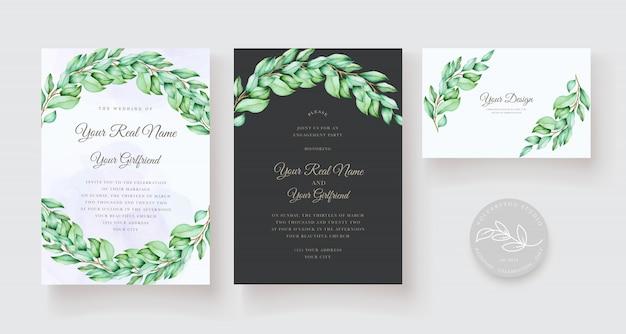 Elegantes blumenhochzeitseinladungskartenset