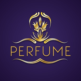 Elegantes blumenparfüm-logo