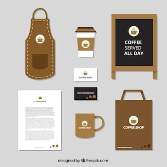 Elegantes briefpapier für einen café-shop