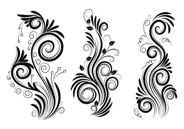 Elegantes dekoratives dekoratives blumenset