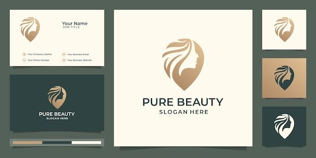 Elegantes design des friseursalons der luxusfrau