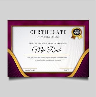 Elegantes design für die vorlage von zertifikatsleistungen