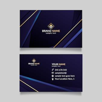 Elegantes design für visitenkartenvorlage