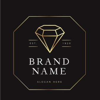Elegantes diamant-logo-thema