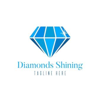 Elegantes diamant-logo