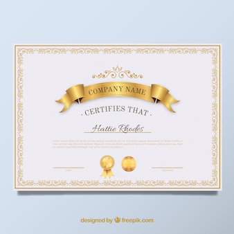 Elegantes Diplom goldener Jahrgang