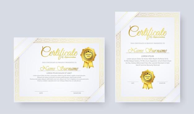 Elegantes diplom im vintage-stil design