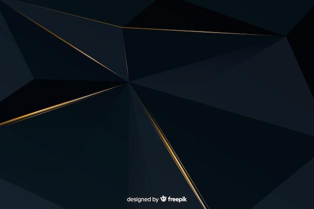 Elegantes dunkles polygonales hintergrunddesign
