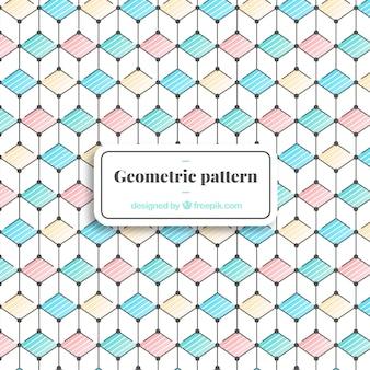 Elegantes geometrisches muster mit minimalistischem stil