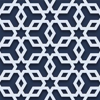 Elegantes geometrisches nahtloses muster 3d