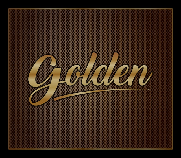 Elegantes gold färbte metallstarken mutigen art-effektalphabet-gusssatz des modernen textes 3d