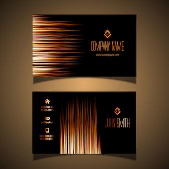 Elegantes gold und schwarzes visitenkartedesign