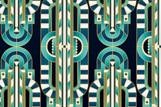 Elegantes gradienten-art-deco-muster