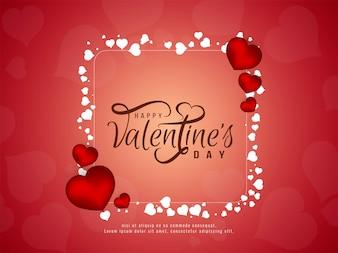 Elegantes Hintergrunddesign des glücklichen Valentinstags