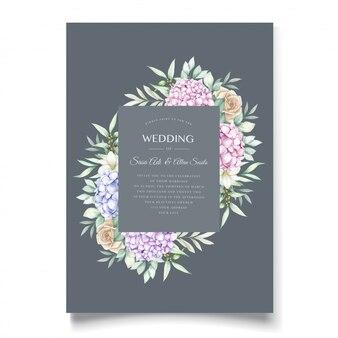 Elegantes hortensienaquarellkartenset