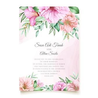 Elegantes kirschblütenhochzeitseinladungsthema