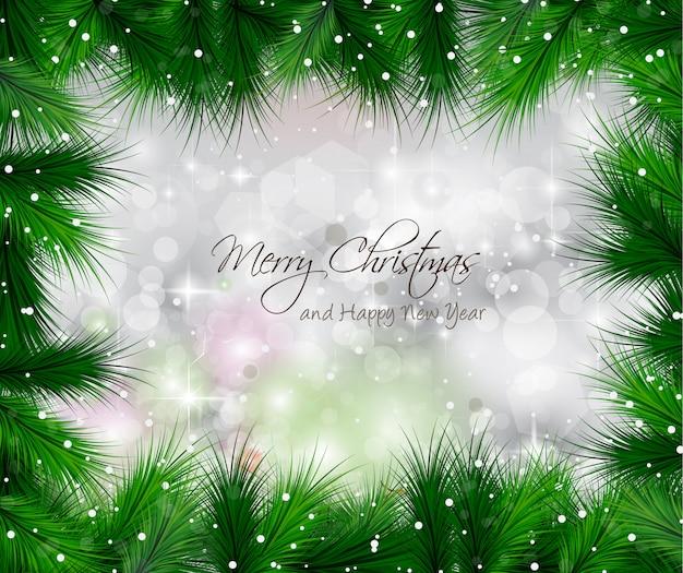 Elegantes klassisches weihnachten mit flitter